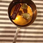 デザートにはシナモンジンジャーシロップを使って・・・
